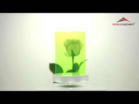 Acrylglas Grün Fluoreszierend 3mm