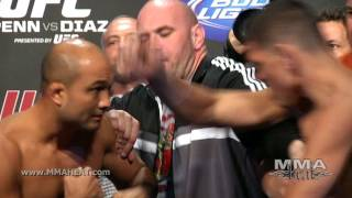 UFC 137: BJ Penn and Nick Diaz Weigh-In + Face-Off