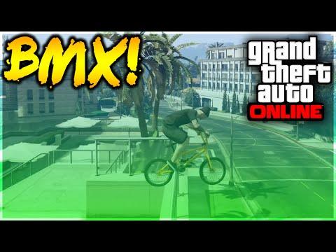 GTA 5 Stunts - WTF! Amazing Hydra BMX Double Grind Stunt! (GTA 5 Stunt Challenge)