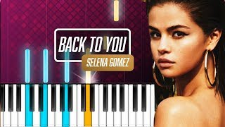 """Download Lagu Selena Gomez - """"Back To You"""" Piano Tutorial - Chords - How To Play - Cover Gratis STAFABAND"""