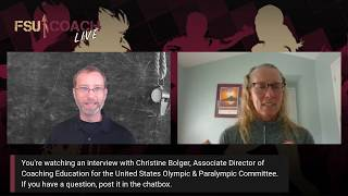 Interview with Christine Bolger, Assoc Dir of Coaching Education, USOPC