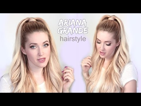 Ariana Grande hair tutorial ❤ Half ponytail hairstyle with extensions
