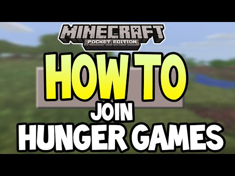 Minecraft Pocket Edition - How To Join Hunger Game Servers - Easy TUTORIAL
