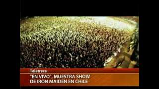 Documental muestra show de Iron Maiden en Chile - CANAL 13 2012