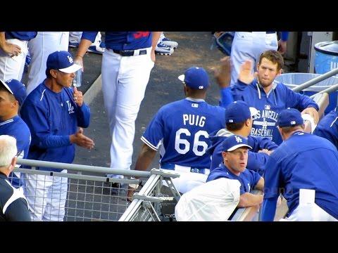 Dodger 2015 Dugout Craziness Yesterday 4-4-15