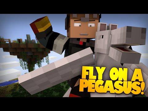 Minecraft Redstone   PEGASUS!   Flying Horses In Minecraft! Magic Seeds & More! (Minecraft Redstone)