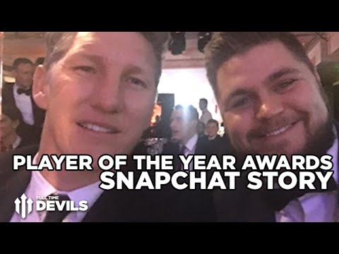 Manchester United Player of the Year Awards | Louis van Gaal, Rachel Riley and More! Snapchat Story