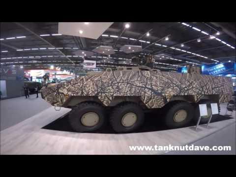 The Patria AMV XP 8X8 Fighting Vehicle