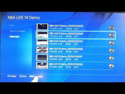 Gestión de almacenamiento del sistema PS4: Ver información y borrar archivos. aplicaciones o clips.