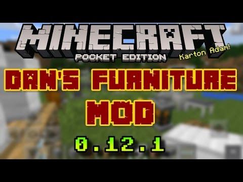 Minecraft PE: Dan's Furniture Mod !!! 0.12.2