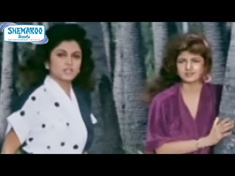 Alluda Majaka Movie Scenes - Ramya Krishna & Ramba Tries To Seduce Chiranjeevi video