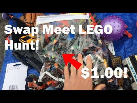 LEGO hunting at  the San Jose. Berkeley. Alemany swap meets near San Francisco   Awesome finds!
