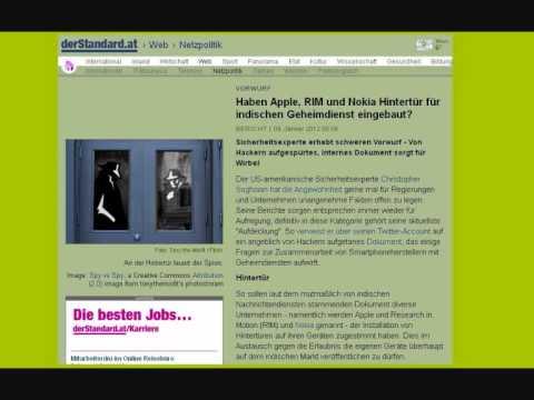 Neuigkeiten Nachrichten Handy-Hintertür DNS-Changer 2012