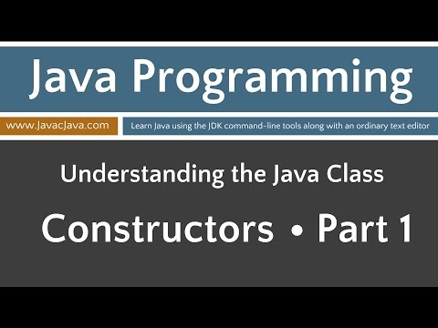 Learn Java Programming - Constructors Part 1 Tutorial