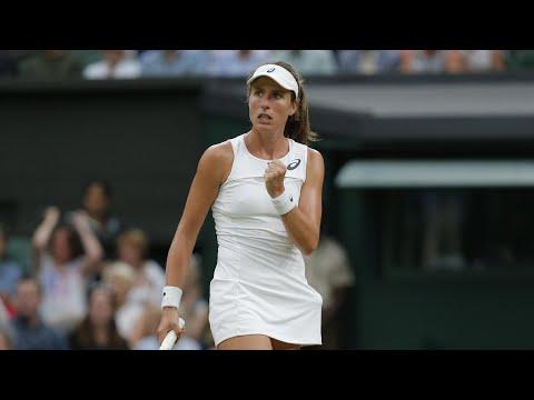 Wimbledon 2017: Johanna Konta reaches semi-finals on day eight –video highlights