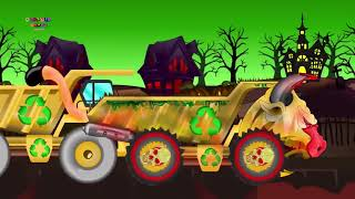 Scary Construction Vehicles | Construction Vehicles For Kids And Babies | Halloween car   #part 253