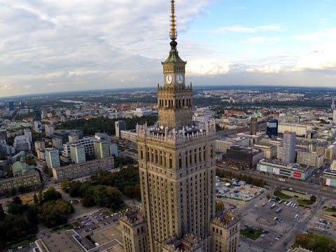 Pałac Kultury I Nauki W Warszawie Z Lotu Ptaka