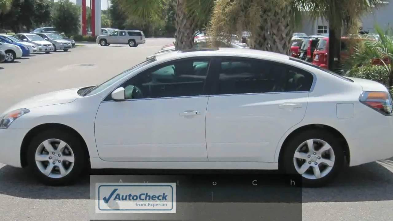 Altima 2007 Nissan Altima 2 5s White Sunroof Tint Youtube