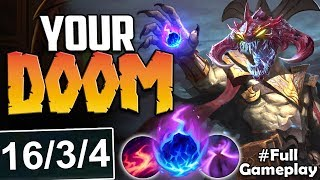 YOUR DOOM | NOTHING CAN SURVIVE THIS INSANE DAMAGE | Cho'Gath vs Nasus TOP | S8 Ranked Gameplay