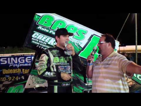 Port Royal Speedway 410 Sprint Car Victory Lane 7-26-14
