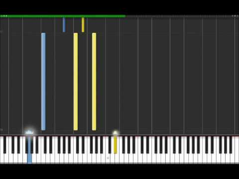 Sweet Dreams - Marilyn Manson (Easy Piano Tutorial) in Synthesia (100% speed)