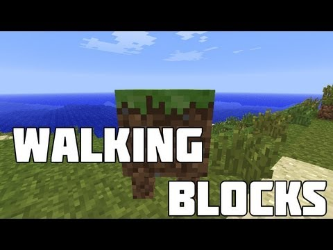 Minecraft Mod Spotlight : Walking Blocks - BLOCKS WITH LEGS!
