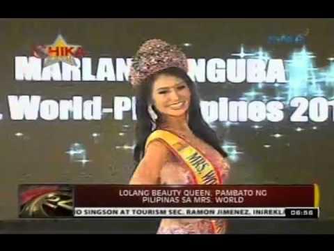 24 Oras: Lolang beauty queen, pambato ng Pilipinas sa Mrs. World