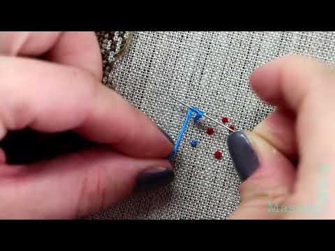 Как делать французский крест в вышивке 103
