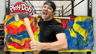 100 LAYERS OF PLAY-DOH (DANGER ALERT) UNBREAKABLE WALL