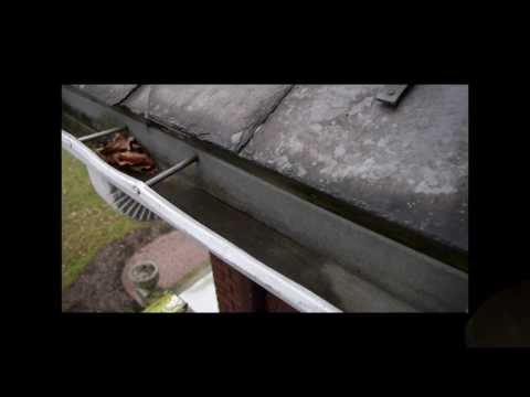 Drip Edge Installation to prevent Water Dripping behind a Rain Gutter