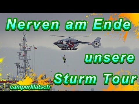 Mit dem Wohnmobil unterwegs im Sturmtief Benjamin I Stellplatz Doppelschleuse Cuxhaven