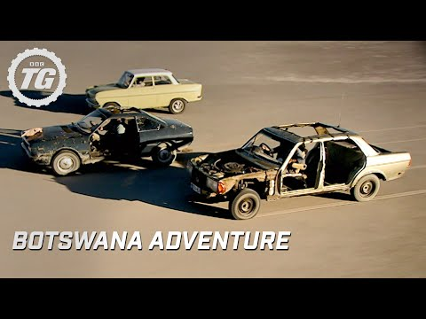 Top Gear's Botswana adventure part one - salt flat driving problems - BBC
