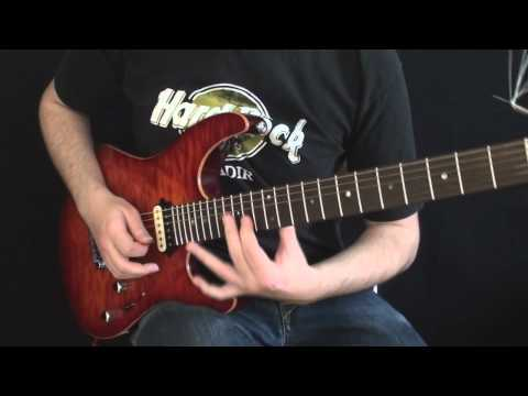 Fusion Licks Guitar Lesson #1: Combining Tapping + String Skipping By Martin Miller
