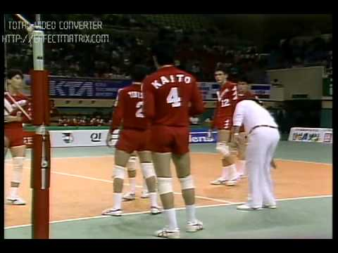 JIMMY GEORGE - KERALA - INDIA - VOLLEYBALL ACTION - SEOUL ASIAN GAMES 1986