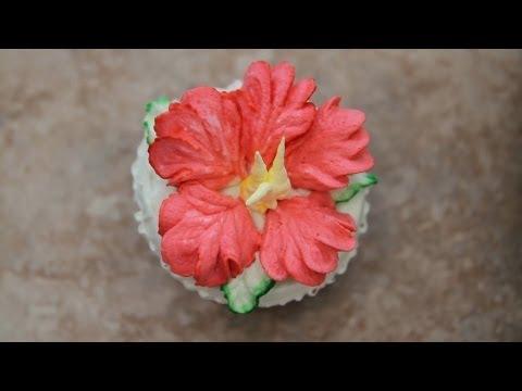 hibiscus cake-How to Decorate Cupcakes