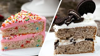 Three Ways To Bake An Ice Cream Cake • Tasty
