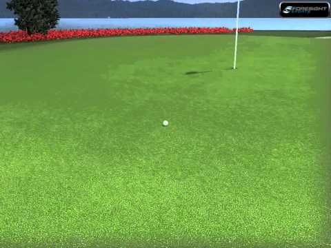 Par 3 Island Green, 180yard 7 iron approach