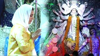 Kajol Durga Pooja 2016 In Mumbai  Full Video HD