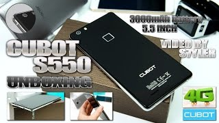 "Cubot S550 (Unboxing) 5.5"", Fingerprint ID, 7,3mm thin, 2.5D Curved Glass - Video by s7yler"
