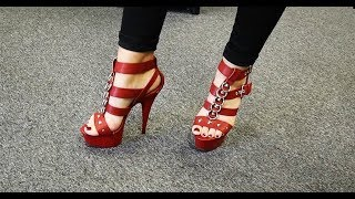 Review Red Matte Pleaser Delight-658 Strappy 6 Inch High Heel Sandals
