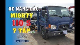 Chiêm ngưỡng xe nâng đầu Hyundai Mighty 110S - xe lu bồi Hyundai 7 tấn chở máy công trình