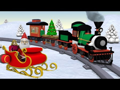 Toy Factory Train Cartoon - Trains for Kids - choo choo train - Santa Cartoon - Train - train videos