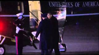 Raw: President Obama Back in US