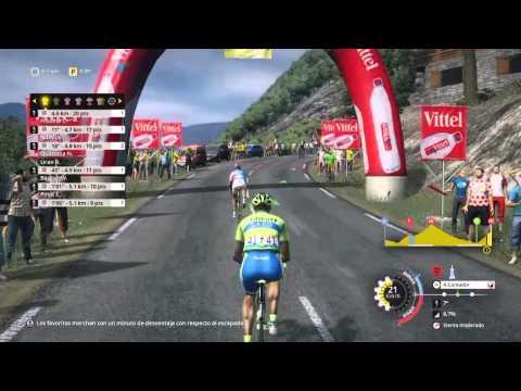 Tour de France 2015 ps4. Contador en l'alpe d'huez