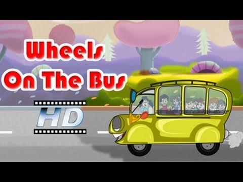 Wheels On The Bus    Nursery Rhyme     For Kids video