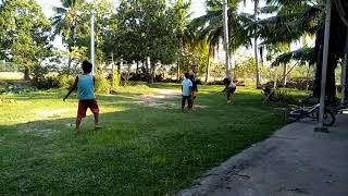 My child are playing football with his friend 4