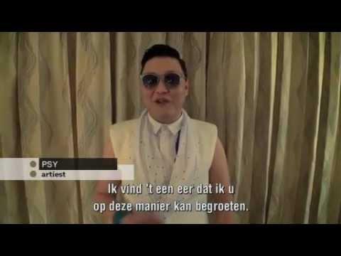 PSY heeft boodschap voor Guus Hiddink in College Tour!!