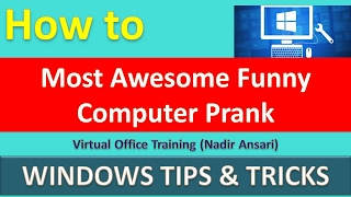 Most Awesome Funny Computer Prank (Funny Tricks) (Windows Tips) [English]