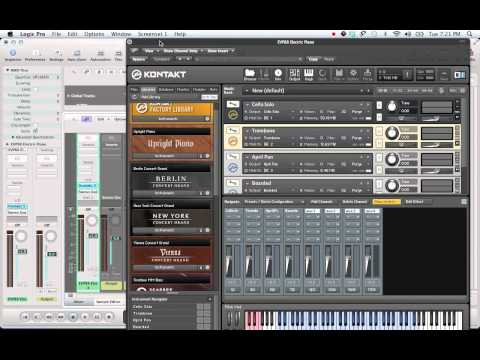 Logic 9: Kontakt 5 Multi-Timbral Automation Tutorial