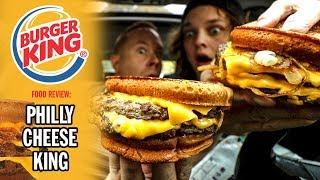 Burger King's Sourdough Philly Cheese King Cheeseburger Food Review
